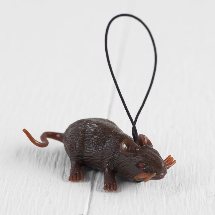 """Прикол резиновая """"Мышь"""", цвет коричневый"""