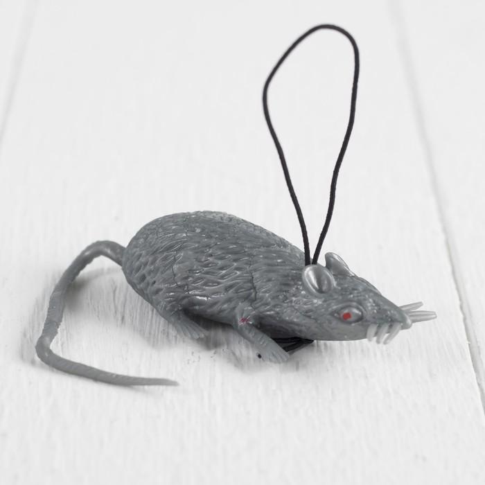 """Прикол резиновая """"Мышь"""", цвет серый"""