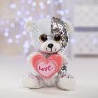 Мягкая игрушка «Медведь с сердцем», пайетки - фото 105610135
