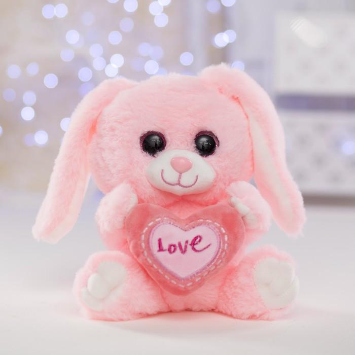 Мягкая игрушка «Зайчик с сердцем»