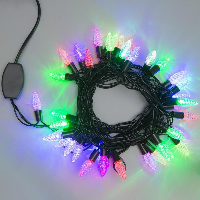 """Гирлянда """"Нить"""" улично-комнатная с насадками """"Растаявший лёд"""", 5 м, LED(IP44)-40-220V, моргает, свечение мульти"""
