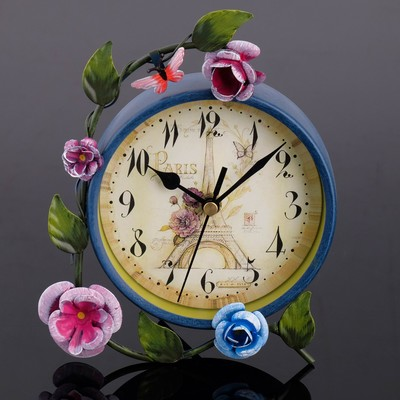 """Часы настольные """"Лужайка"""", d=11 см"""