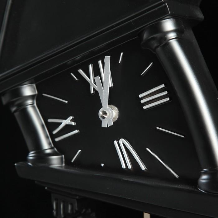 """Часы настольные """"Маятник на ноге"""" черные"""