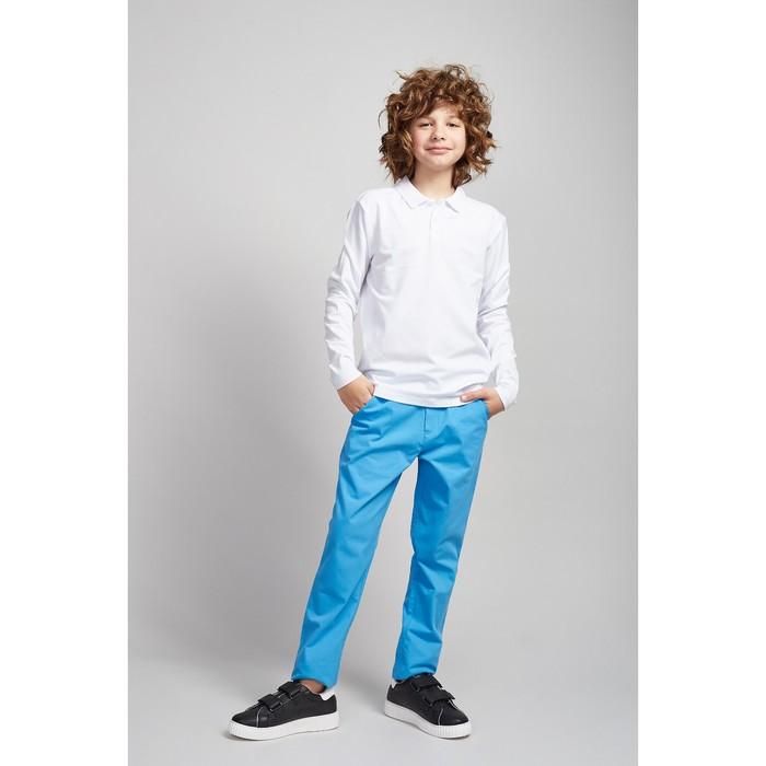 Рубашка-поло для мальчика белый, 128 см