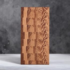 Доска разделочная торцевая, 20х40 см, массив дуба, ореха