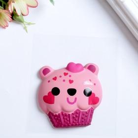 "Объемный стикер Sticko ""Bear Cupcake"""