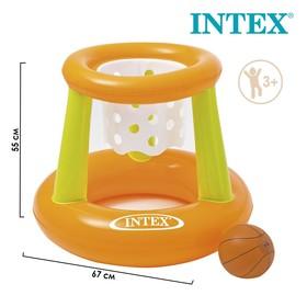 Корзина баскетбольная, надувная, с мячом, 67 х 55 см, от 3 лет, 58504NP INTEX