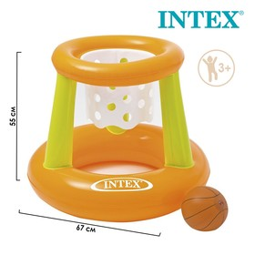 Корзина баскетбольная, надувная, с мячом, 67 х 55 см, от 3 лет, 58504NP INTEX Ош