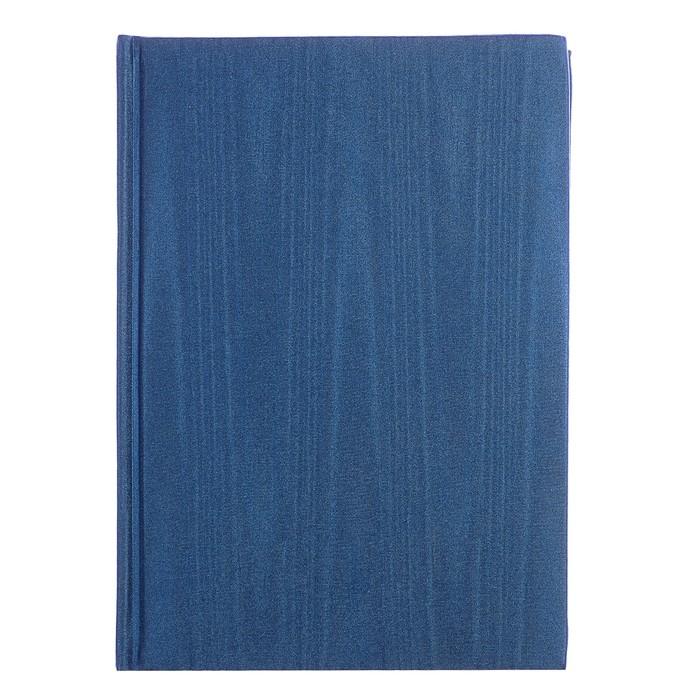 Ежедневник недатированный А5, 160 листов deVENTE Adore, искусственная кожа, серебряный срез, ляссе, синий - фото 373635078