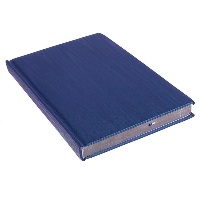 Ежедневник недатированный А5, 160 листов deVENTE Adore, искусственная кожа, серебряный срез, ляссе, синий - фото 373635079
