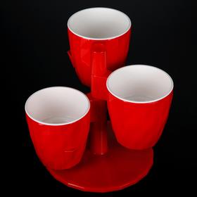 Кашпо Ruby «Каскад», 1 л, цвет красный