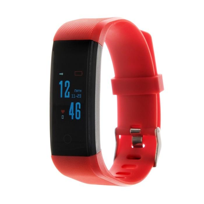 Фитнес-браслет Smarterra FitMaster 4, измерение пульса, доп. ремешок, шагомер, красный