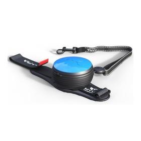 Рулетка-поводок Lishinu 2 Original, для бега, размер S, голубой