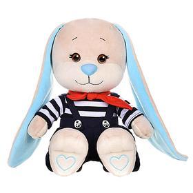 Мягкая игрушка «Зайка Жак» в полосатой кофточке и синих штанишках, 25 см