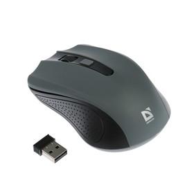 Мышь Defender Accura MM-935, беспроводная, оптическая, 1600 dpi, USB, 2xAAA, серая