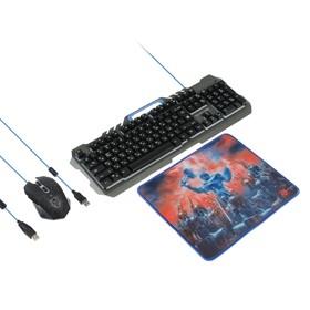 Игровой набор Defender Killing Storm MKP-013L RU,клавиатура+мышь+коврик,проводной,мембранный