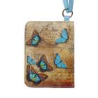 Чехол-кошелёк для карт «Голубые бабочки»