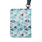 Чехол-кошелёк для карт «Голубые треугольники»