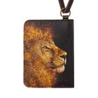 Чехол-кошелёк для карт «Золотой лев»
