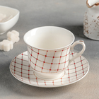 "Tea pair ""of Movie"" Cup 220 ml, 10,5x8,8х7 cm, saucer 14 cm"