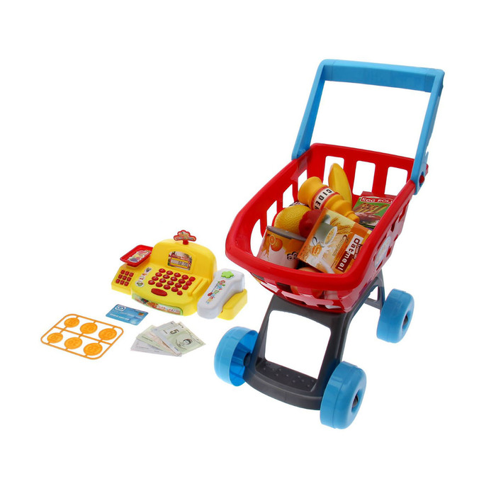 Игровой набор «Минимагазин» с жёлтой кассой, в пакете