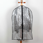 Case for clothes 60 x 90 cm, transparent, gray color