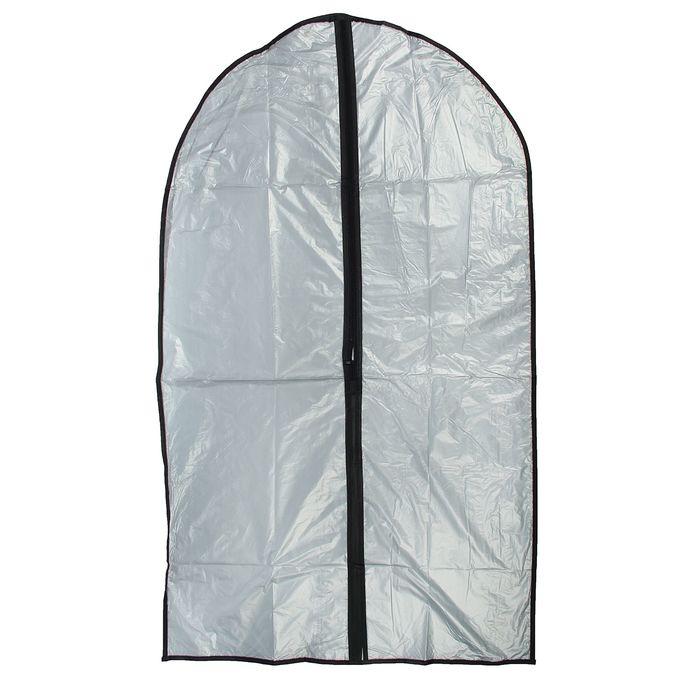 Чехол для одежды 60х90 см, цвет серый, прозрачный