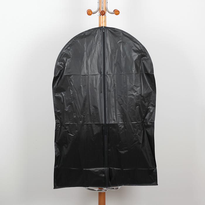 Чехол для одежды, плотный 60х90 см ПВХ, цвет черный