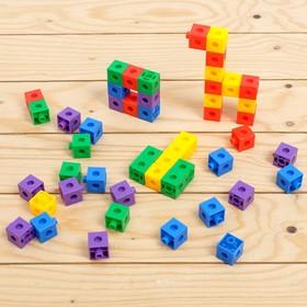 Обучающий набор «Кубики-конструктор: Логика и внимание» с заданиями, в пакете