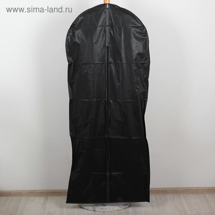 Чехол для одежды плотный, цвет черный