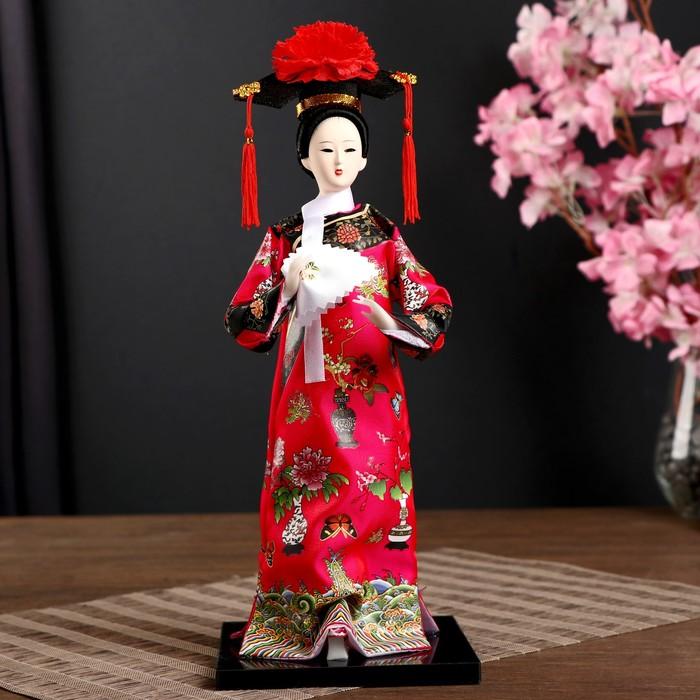 """Кукла коллекционная """"Китаянка в национальном платье с платочком"""" 32х12,5х12,5 см"""