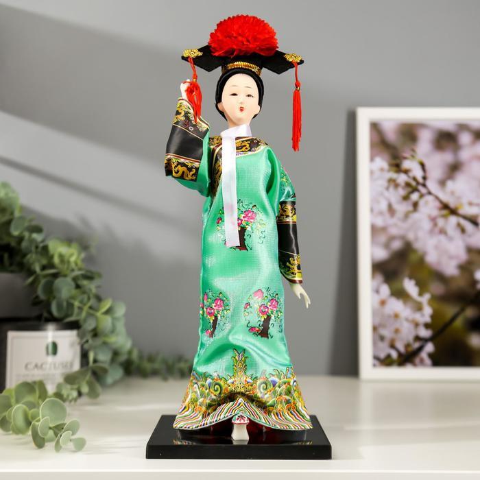 """Кукла коллекционная """"Китаянка в национальном платье с бабочками"""" 32х12,5х12,5 см"""