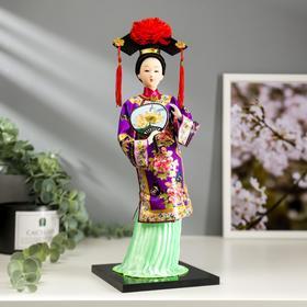 """Кукла коллекционная """"Китаянка в национальном платье с опахалом"""" 32х12,5х12,5 см - фото 2218338"""