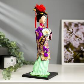 """Кукла коллекционная """"Китаянка в национальном платье с опахалом"""" 32х12,5х12,5 см - фото 2218339"""