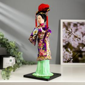 """Кукла коллекционная """"Китаянка в национальном платье с опахалом"""" 32х12,5х12,5 см - фото 2218340"""