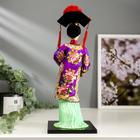 """Кукла коллекционная """"Китаянка в национальном платье с опахалом"""" 32х12,5х12,5 см - фото 2218341"""