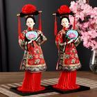 """Кукла коллекционная """"Китаянка в национальном платье с опахалом"""" 32х12,5х12,5 см - фото 2218343"""
