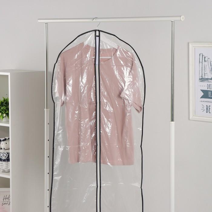 Чехол для одежды 61х160 см, прозрачный