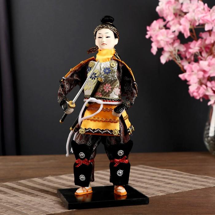 "Кукла коллекционная ""Китайский гвардеец с мечом"" 31х12,5х12,5 см"