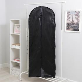 Чехол для одежды плотный Доляна, 60×160 см, PEVA, цвет чёрный