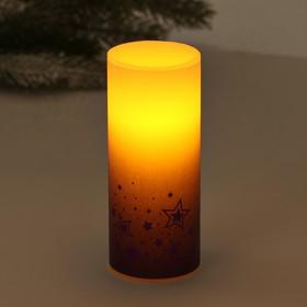 Свеча светодиодная восковая «Звёзды»