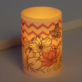 Свеча светодиодная восковая «Цветы»