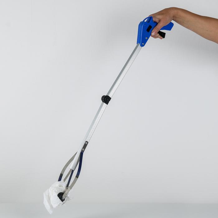 Захват для мусора 77×13,5 см, резиновые держатели, цвет МИКС