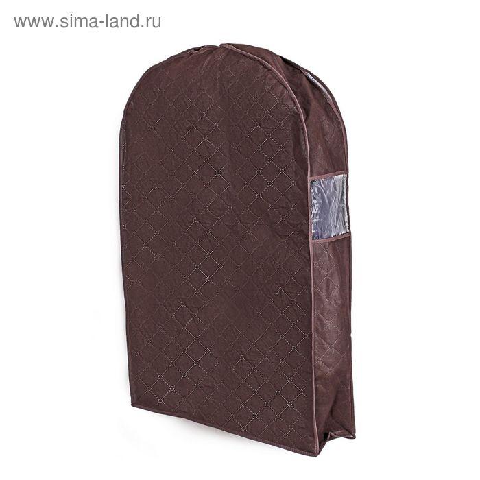 Чехол для одежды для зимней одежды, спанбонд, цвет коричневый