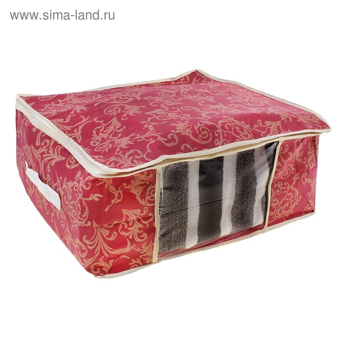 Кофр для хранения вещей, 45х45х20 см, цвет бордовый