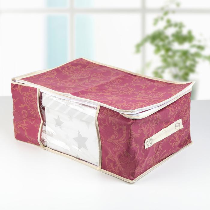 Кофр для хранения вещей 43×29×18 см, цвет бордовый