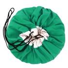 Мешок для хранения игрушек и игровой коврик 2 в 1 Play&Go Classic, цвет зелёный