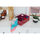 Органайзер для белья «Бордо», 12 ячеек, 32×24×12 см, цвет бордовый - фото 4641044