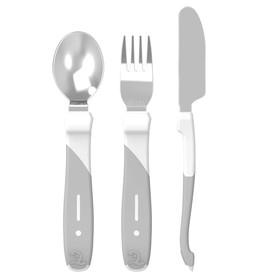 Набор приборов Twistshake Learn Cutlery Stainless Steel, цвет белый, от 12 месяцев