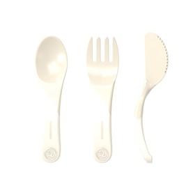 Набор детских приборов Twistshake Learn Cutlery, цвет пастельный бежевый, от 6 месяцев